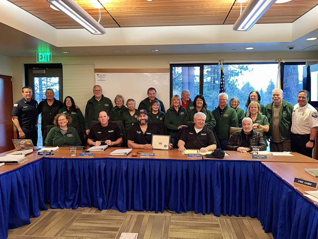 The area's Community Emergency Response Team has been serving Tahoe communities for a decade.