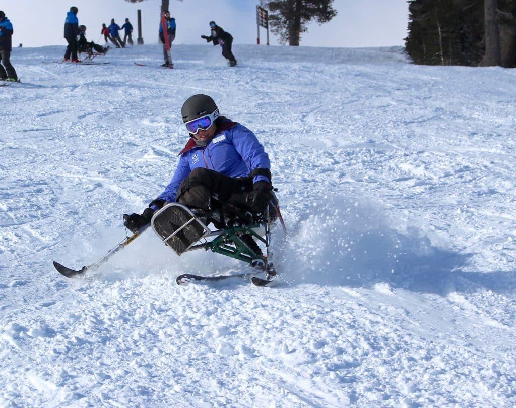Squaw Valley native Marina Gardiner began adaptive skiing with Achieve Tahoe as an undergrad at UC-Berkeley. Gardiner now works for Achieve Tahoe as the nonprofit's guest services manager.