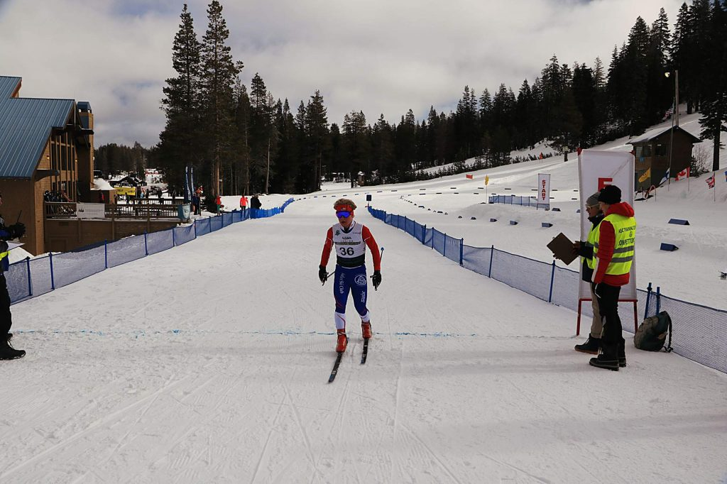 Truckee's Matt Seline captures first place in the 10-kilomter race at Auburn Ski Club.