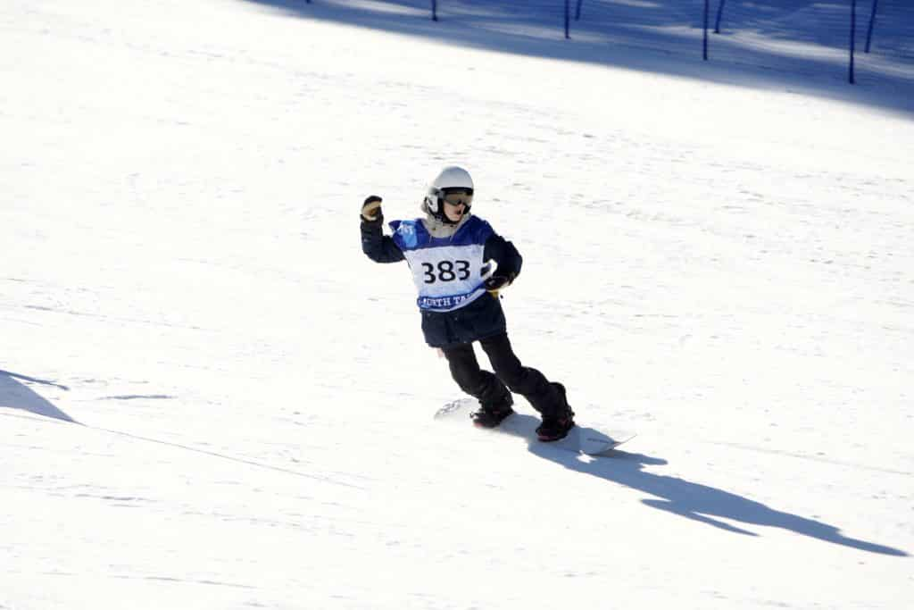 North Tahoe senior Nina Burt rides to her fifth win of the season on Monday, Feb. 10, at Northstar California Resort.