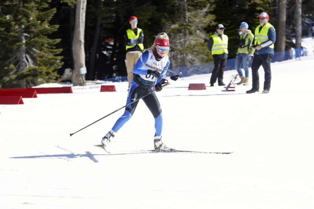 North Tahoe's Kili Lehmkuhl races out of the transition area.