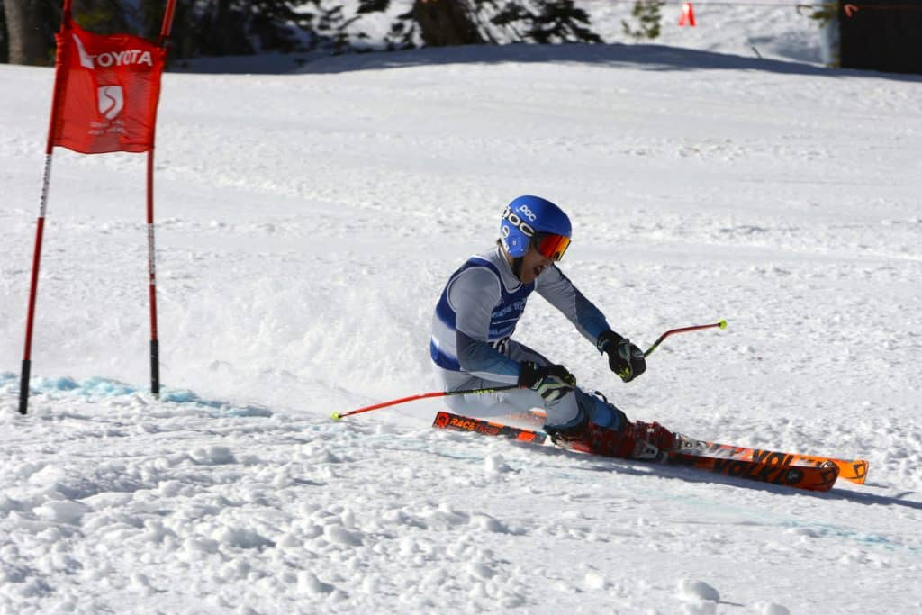 North Tahoe senior Trent Carter races to a state championship in giant slalom on Wednesday at Alpine Meadows.