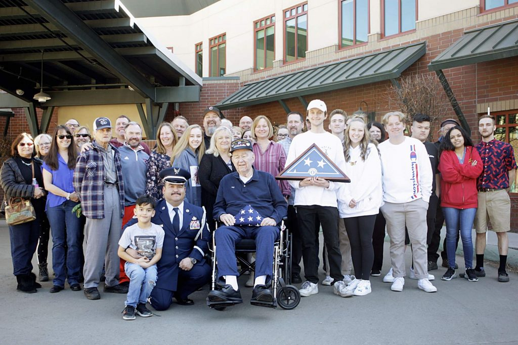 Korean War veteran William J. Brown served in the Air Force for three years. Brown was presented with a service flag on his 89th birthday, Saturday, Feb. 22.