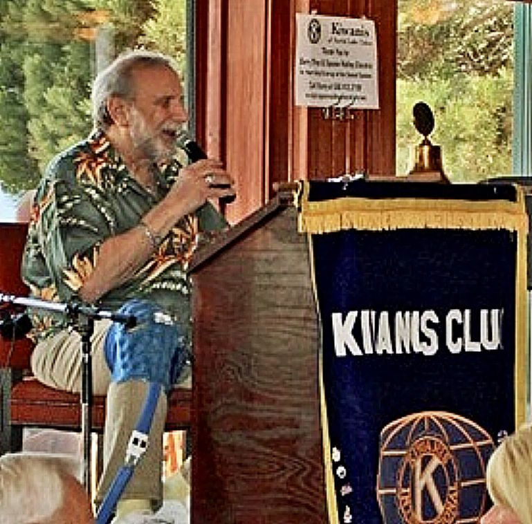 Kiwanis Club of Lake Tahoe has made Ed Miller the first to received the club's Lifetime Honorary Membership to recognize Miller's contributions to the club and the community for many years. Club President Linda Adkins pointed specifically to Miller's contributions as annual auction emcee and auctioneer among his many volunteer efforts.