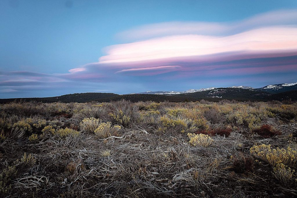 Lenticular cloud from Martis Valley.
