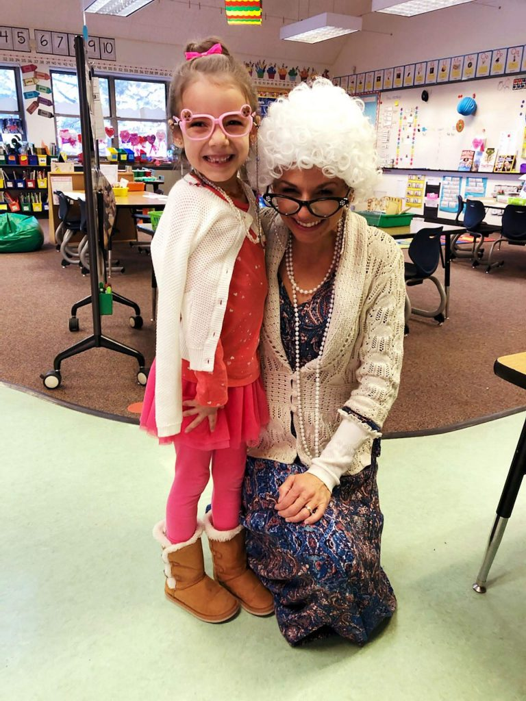 Students and staff celebrating the 100th day of school at TTUSD!