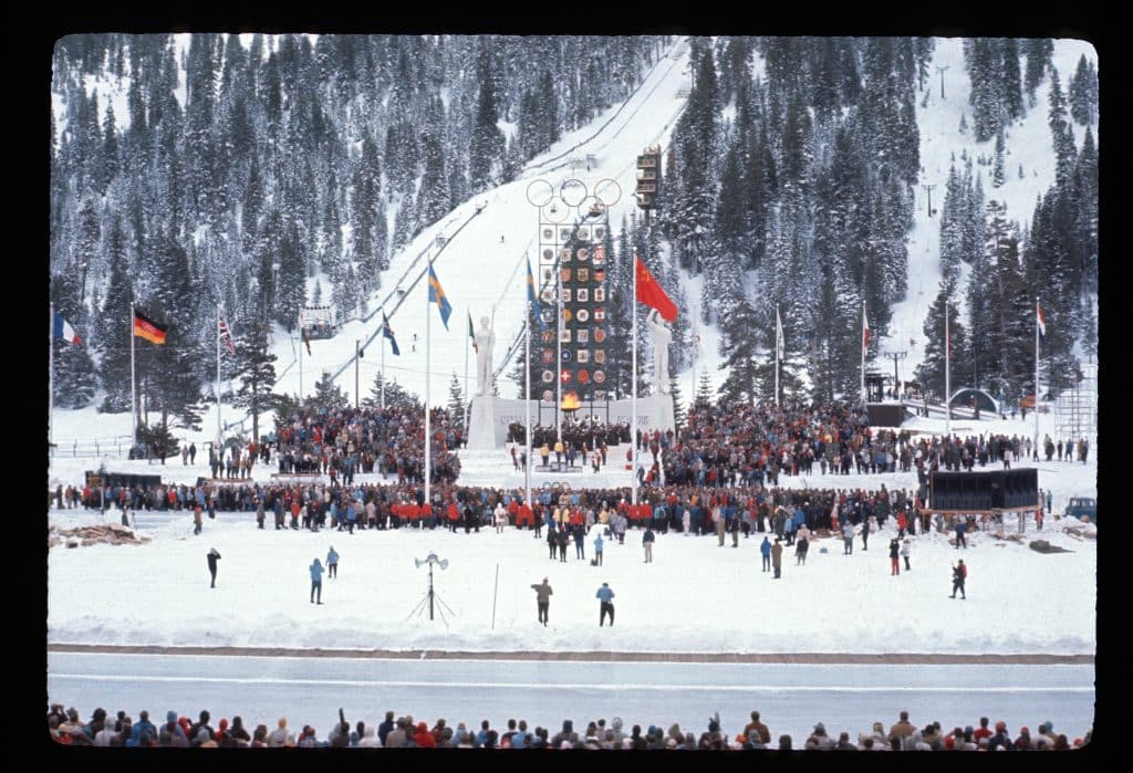 The 1960 Winter Olympics ran from Feb. 18 to Feb. 28.