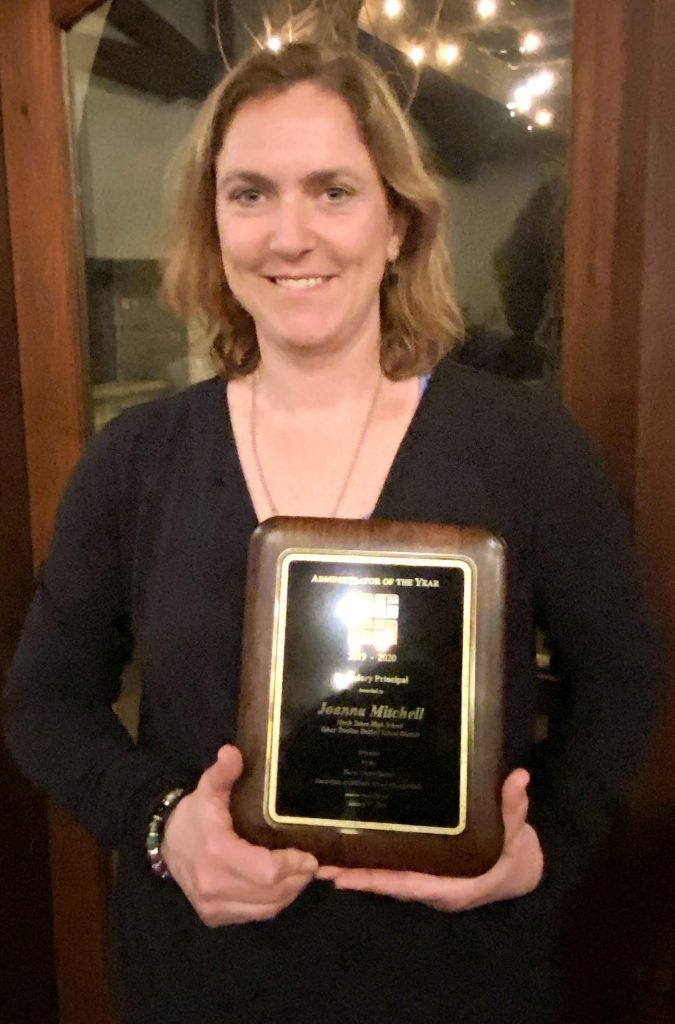 Joanna Mitchell was named the 2020 Placer County Secondary Administrator of the Year.