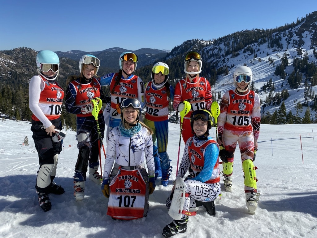 The Truckee girls' captured the slalom and combined team state championships.