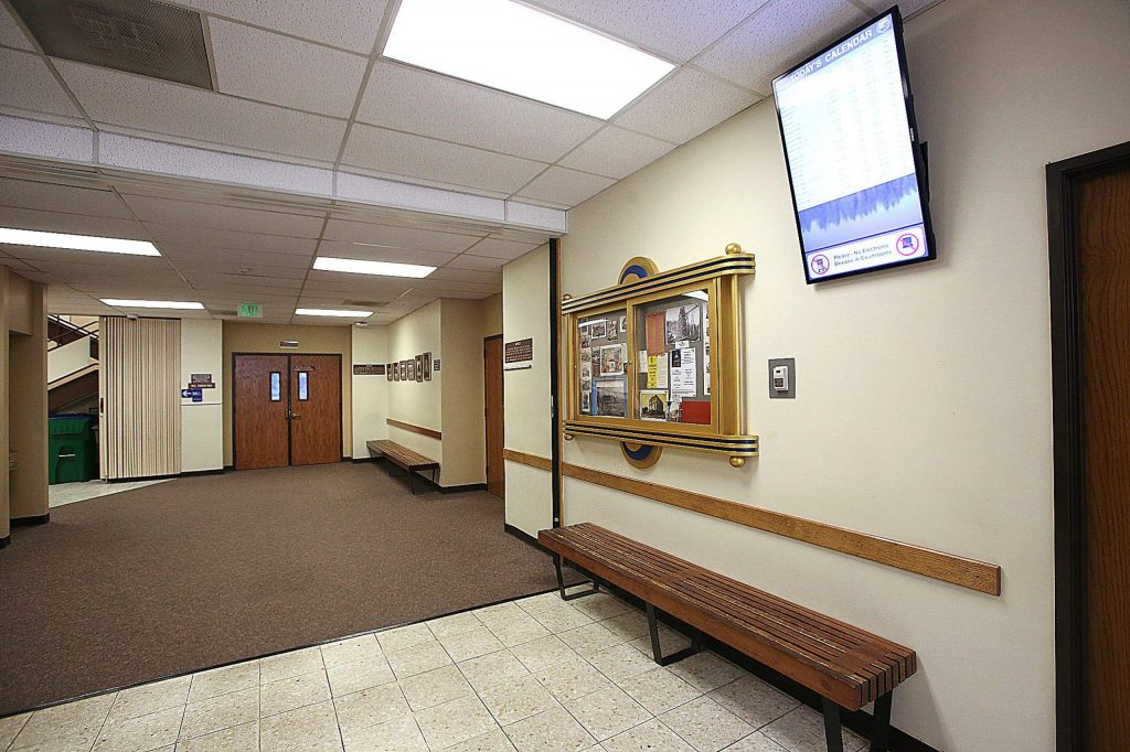 The usually busy hallways of Nevada County Superior Court sit idle Tuesday morning as most court business has been postponed or moved online due to coronavirus concerns.