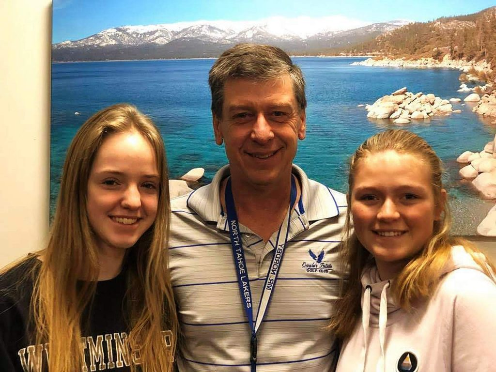Dean Nordby (pictured with students) of North Tahoe High School received the Northern California Band and Choir Directors Association