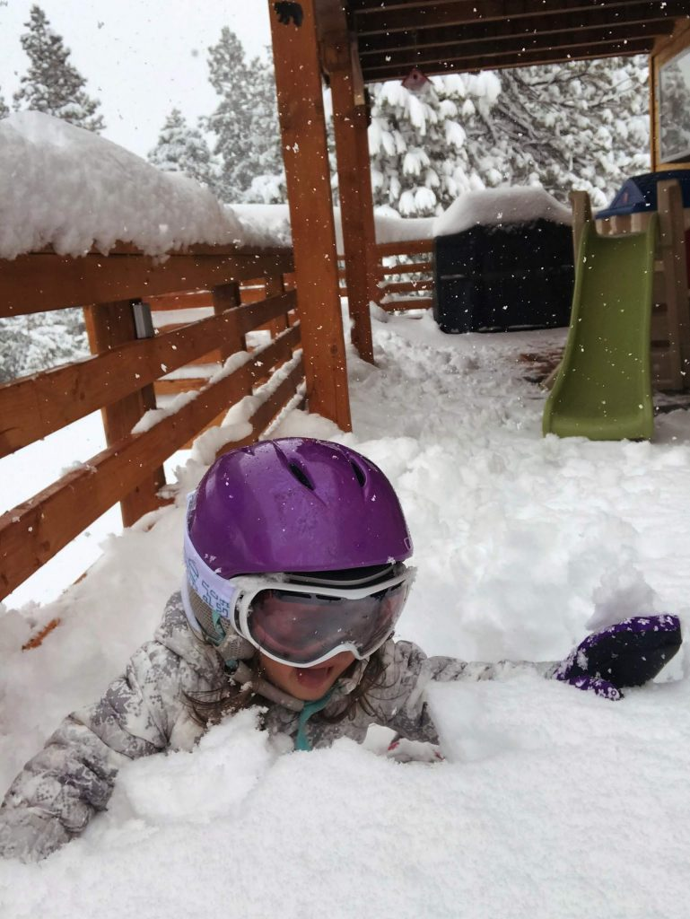 Local Truckee toddler, Emmy, loving the snow!