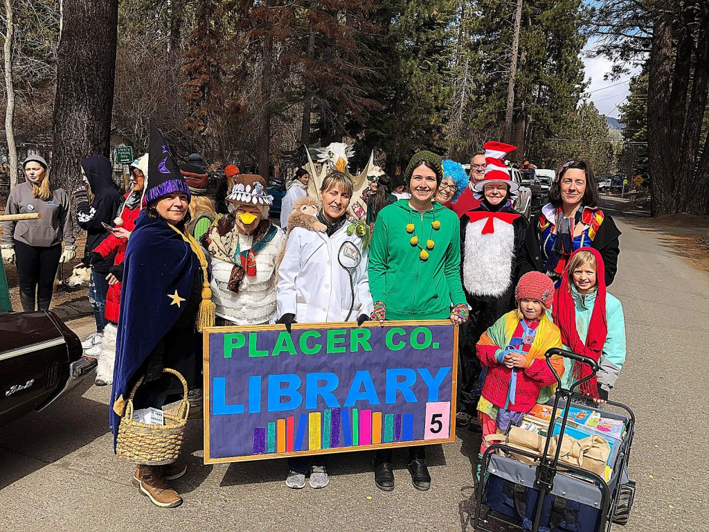 At the Kings Beach SnowFest! Parade on March 7. We are dressed as literary characters promoting literacy in our community.