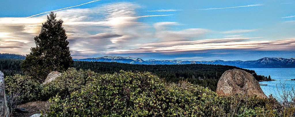 Lenticular clouds over Mt. Rose.
