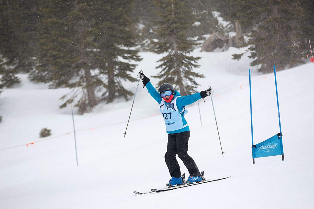 Participants carved out 320,279 vertical feet during Saturday's SKI for MS event at Squaw Valley.