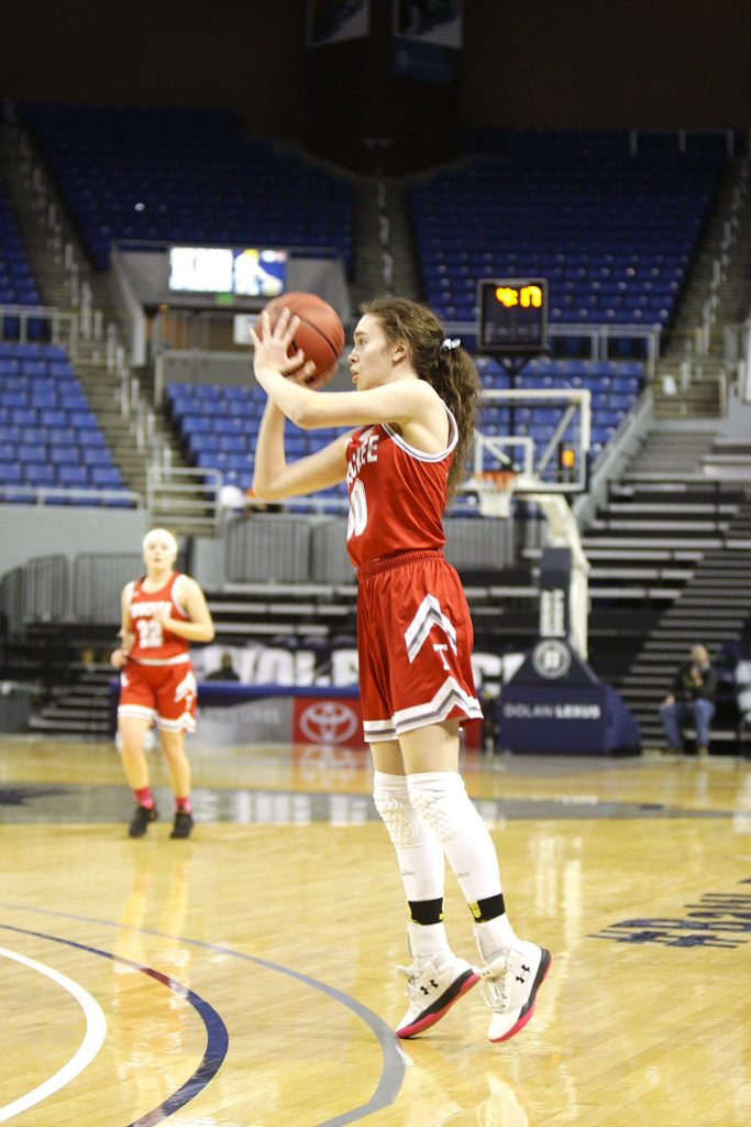 Senior Elena Friedman hit a pair of 3-pointers in the second quarter to help lift the Wolverines past Fernley in the state championship game.