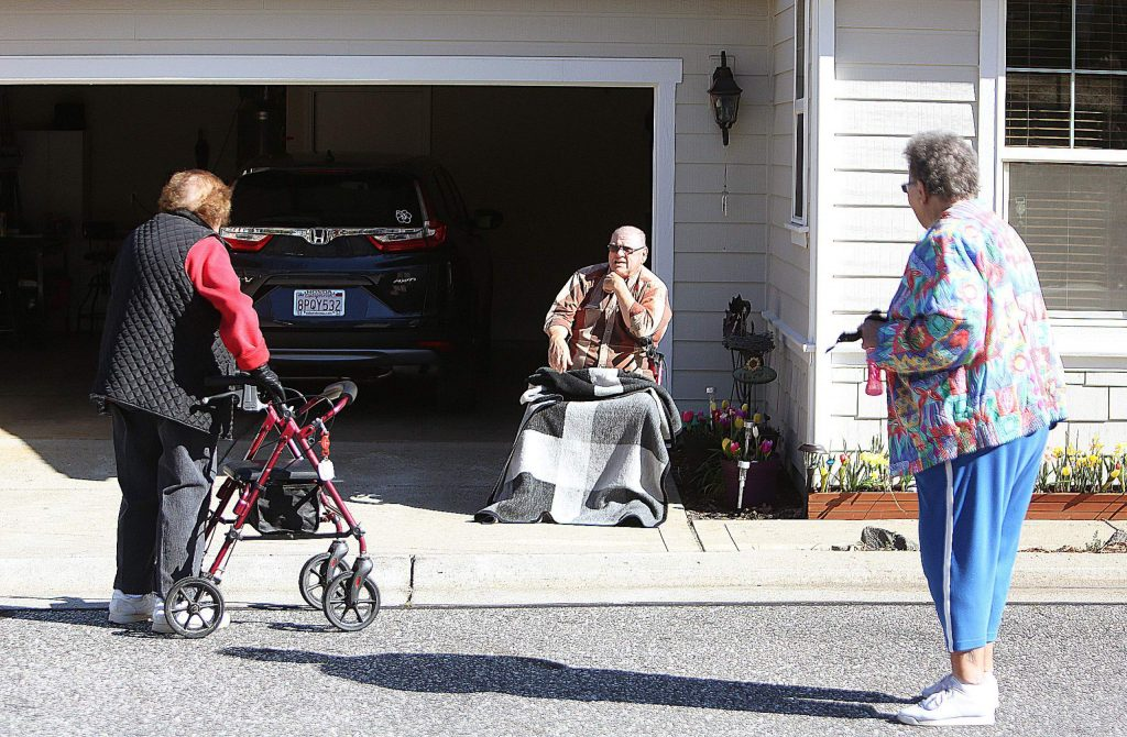 The Sparrow Circle morning walking group makes sure to check on the wellbeing of those unable to leave their homes.