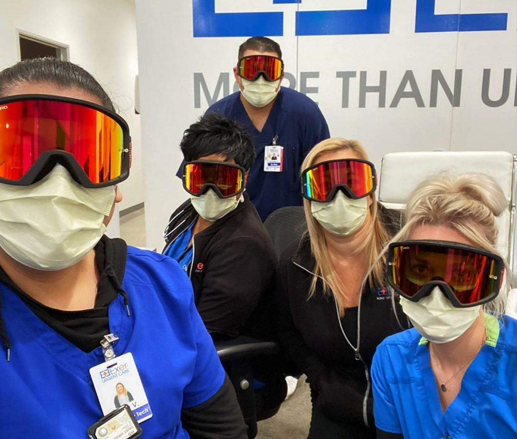 Doctors from around the nation are turning to ski goggles as the supply of personal protection equipment dwindles.
