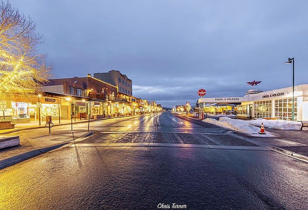 An empty Truckee this morning