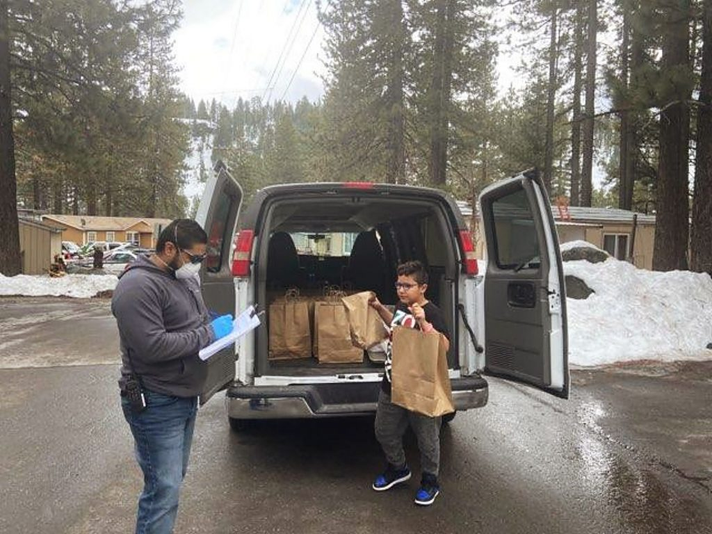 The Tahoe Truckee Unified School District has handed out thousands of meals since March 17.
