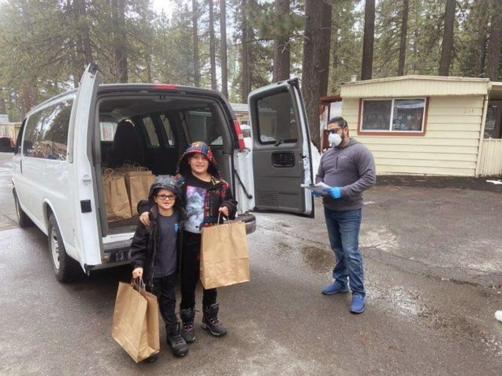 The Tahoe Truckee Unified School District is now delivering free meals to a dozen locations in the area.