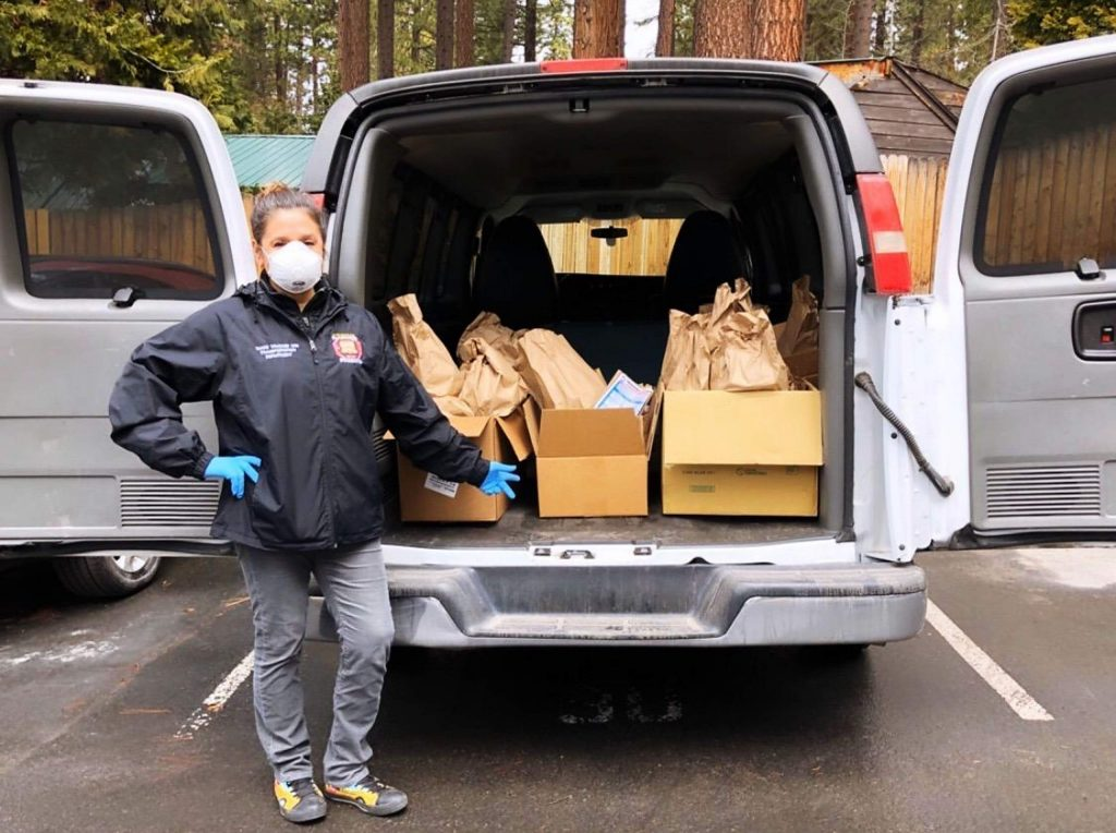 Tahoe Truckee Unified School District marked vans will be making stops throughout the area on weekdays, delivering free meals to children.