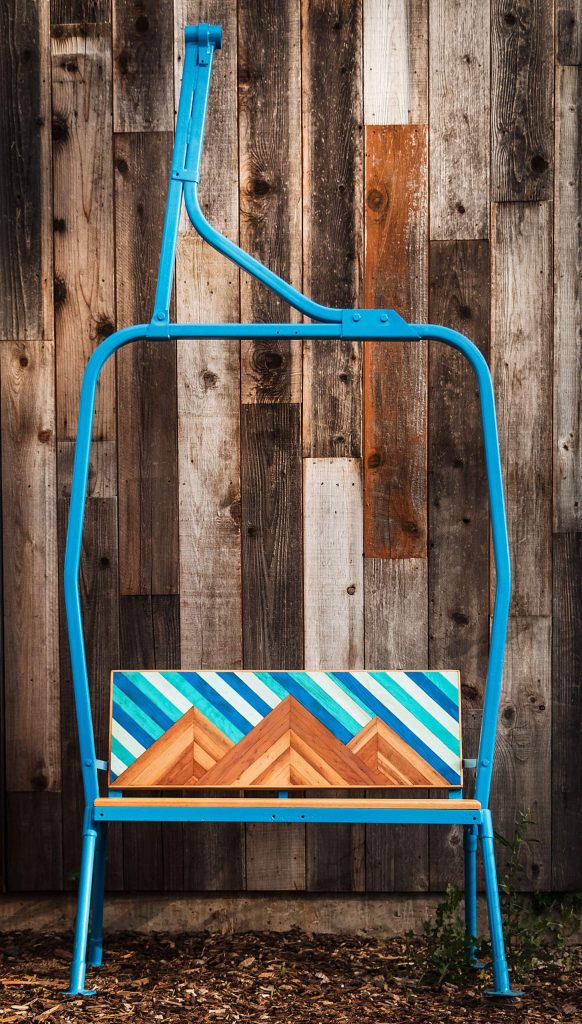 Upon the next purchase of a restored ski lift chair, Three Peak Designs will donate $2,000 to Blessings in a Backpack.