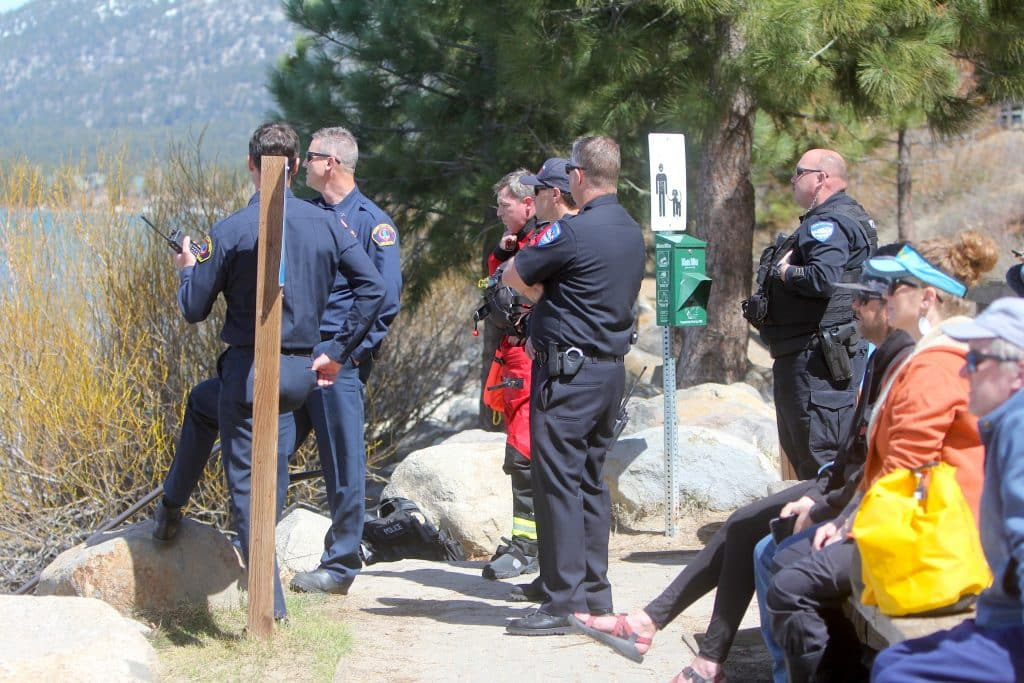 South Lake Tahoe police officers were at Regan Beach in just a couple of minutes.