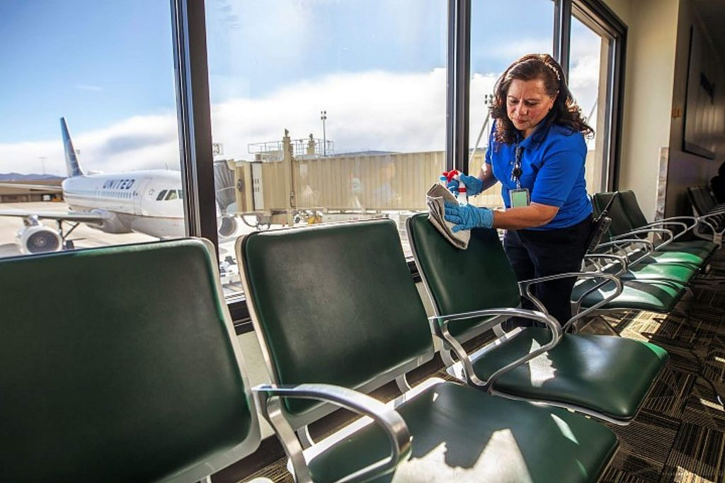 "Airport officials say ""in a two-month period, the entire aviation world just turned inside itself"" and after 54 consecutive months of passenger growth, it all the sudden came to a total standstill."