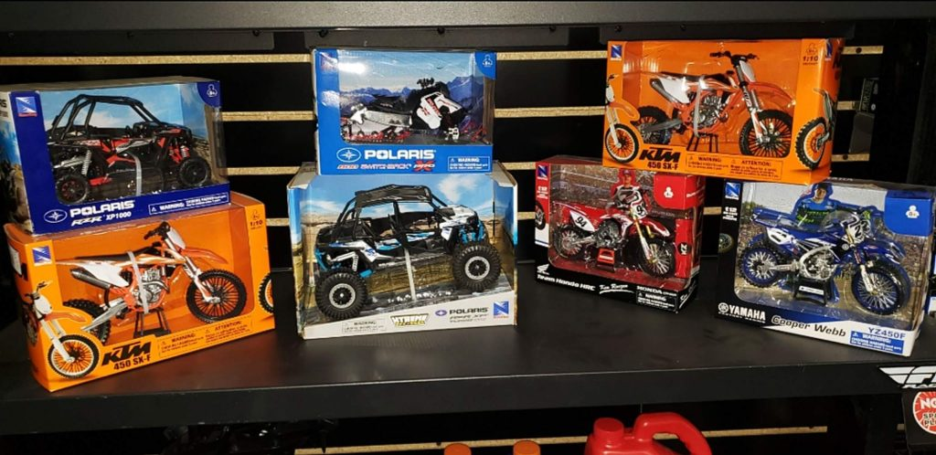 Craig Fierro originally handed out what he had in stock and reordered 16 more toys from Western Power Sports Inc. But when the distribution center caught wind of what he was doing then they sent him double the order.