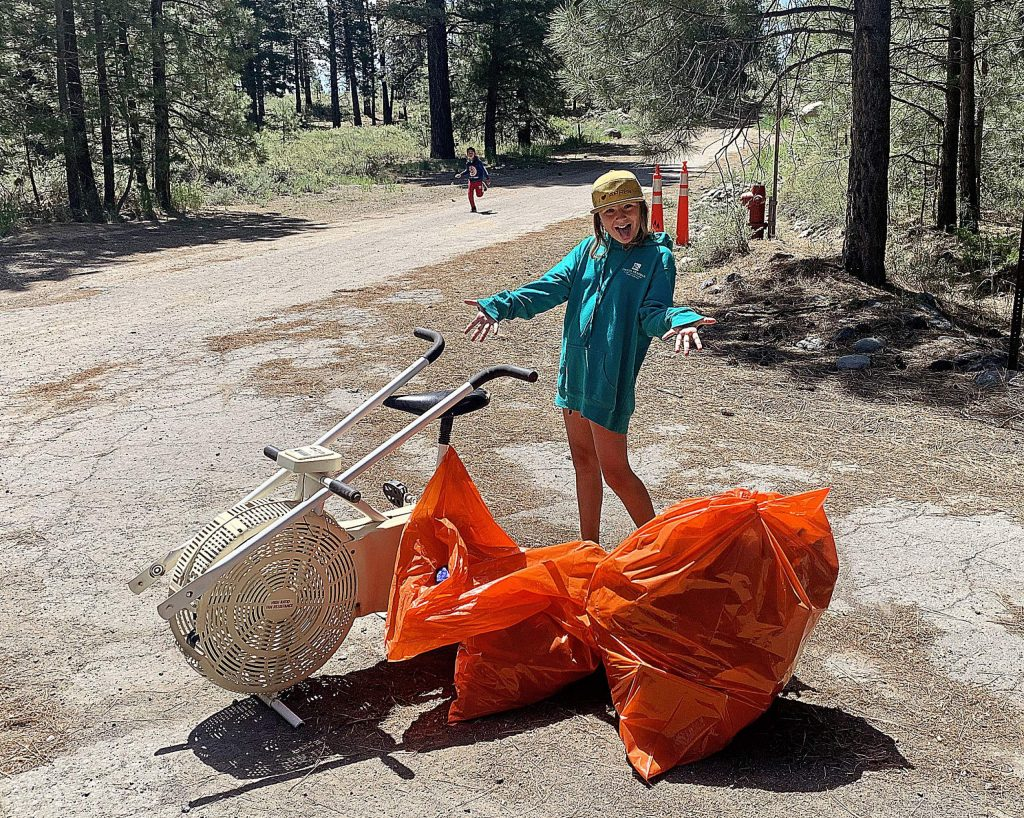 Adina joined her father, Mayor Dave Polivy, for cleanup efforts as part of Truckee Day.