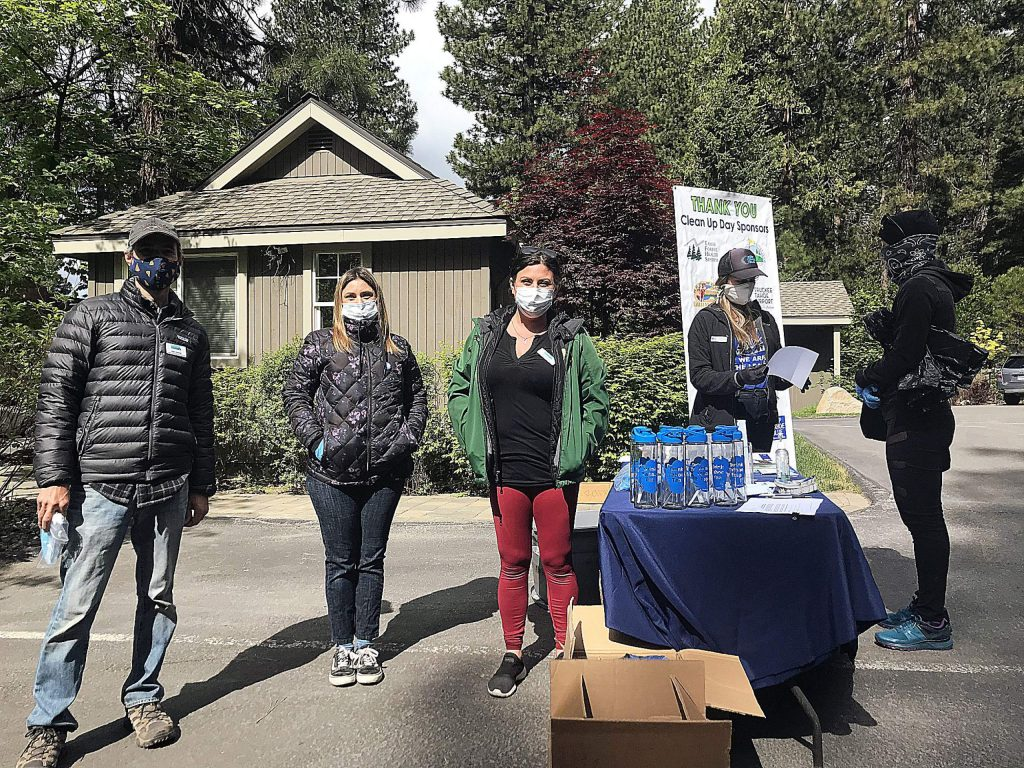 A record number of volunteers emerged from sheltering in place to pick up trash during Truckee Day. Simultaneous cleanup events across North Lake Tahoe added to that number, collectively picking up over 9,880 pounds of trash.