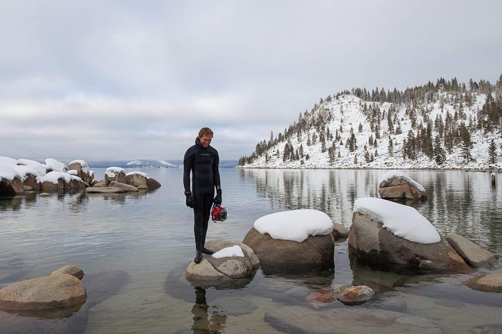 "Dylan Silver, author of ""Clarity: A Photogenic Dive Into Lake Tahoe's Remarkable Water."