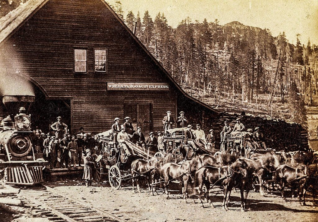 Stagecoach travel, with teams like this one out of Cisco, was better than the other alternatives until the railroad came along.