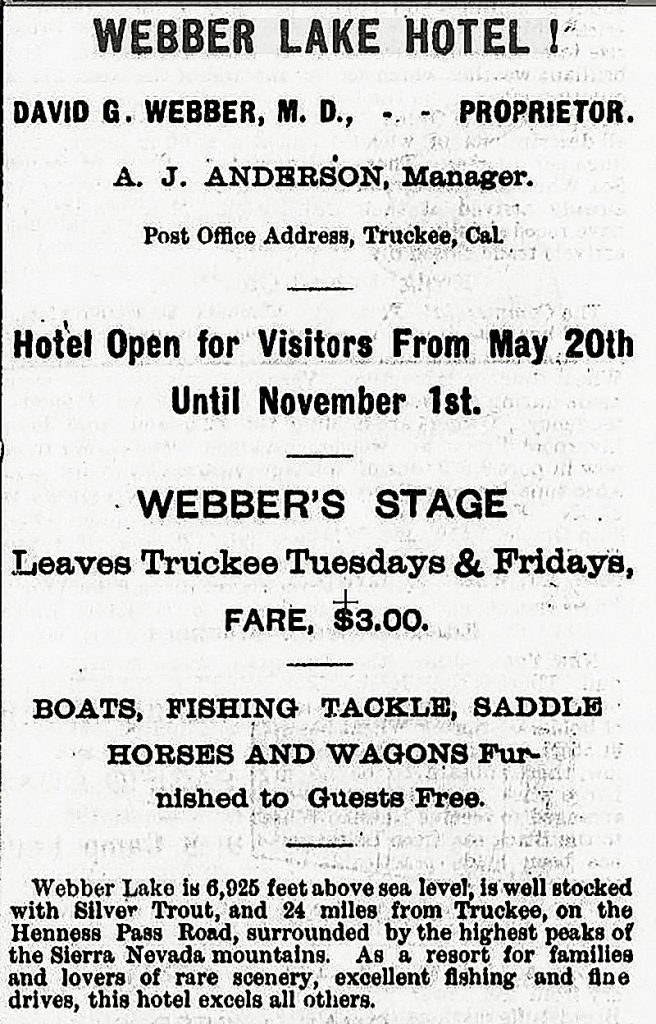Webbers Stage advertisement