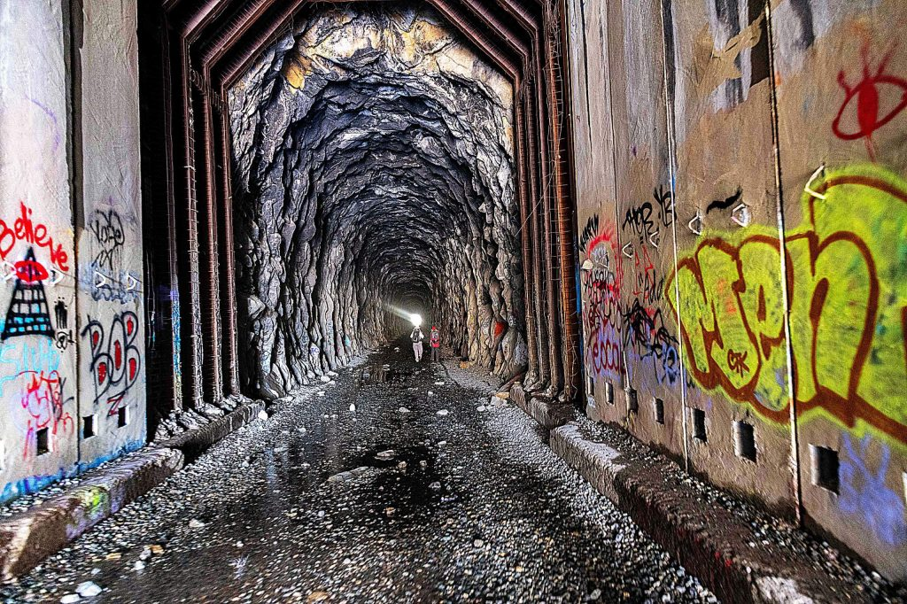 This is a photo taken May 29 at the east entrance to the 1600's long tunnel at Donner Summit.