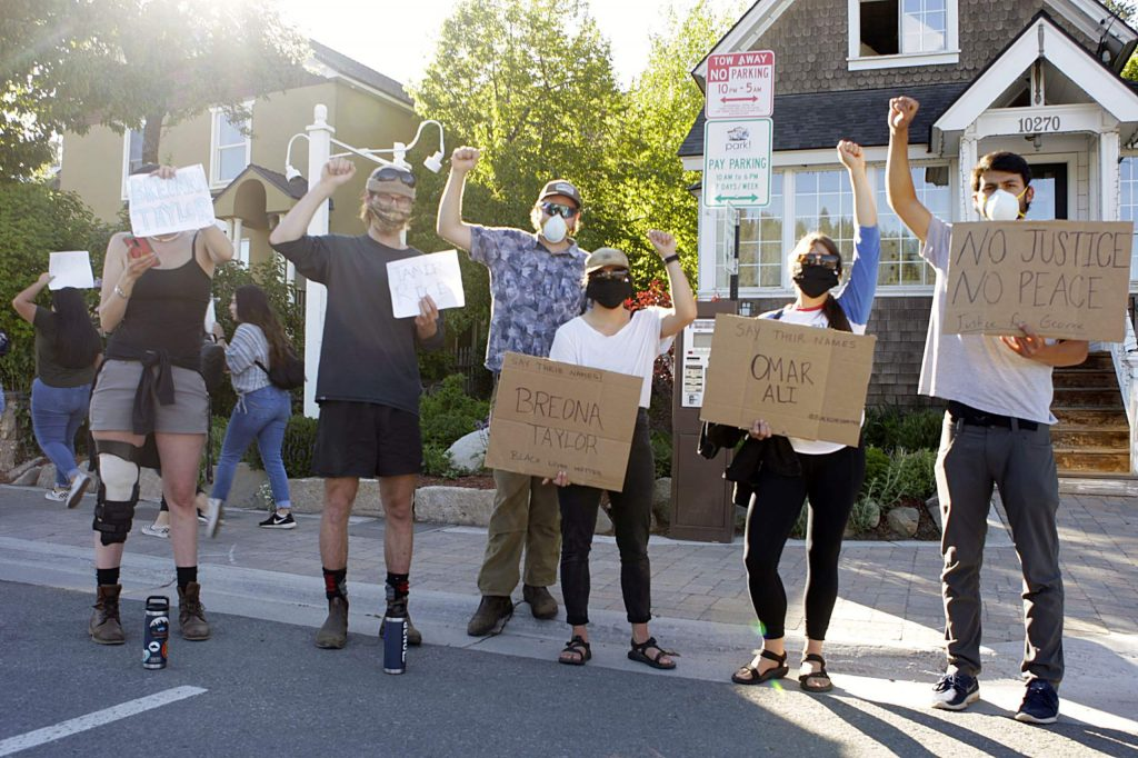 The Say Their Names Vigil was organized by a group of Truckee citizens in conjunction with Tahoe Truckee Indivisible.