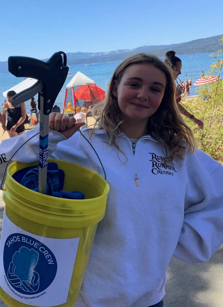 The League to Save Lake Tahoe provides crew leaders with a bucket of materials to get started.
