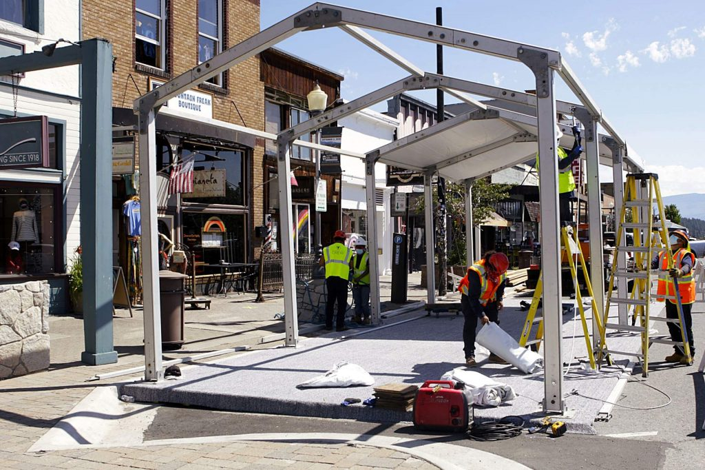 Gov. Gavin Newsom imposed statewide restrictions this week on bars, indoor dining, nonessential retail, gyms and hair salons, which has led to businesses adjusting to outdoor operations.