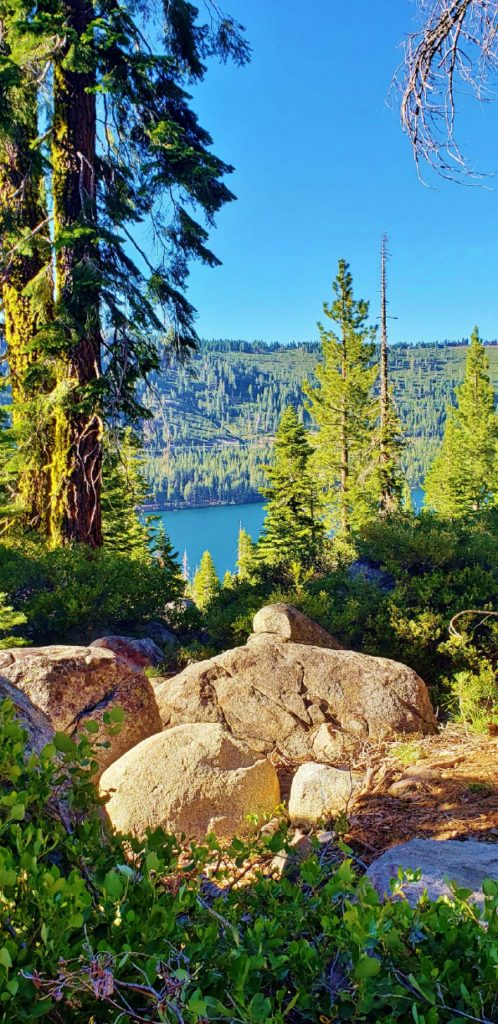 A view of Donner Lake from Southside Highlands.