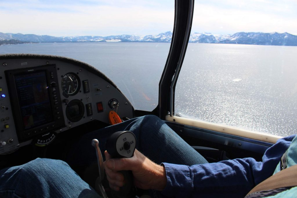 Seaplane: Glide from the water to the air in a seaplane over Lake Tahoe.