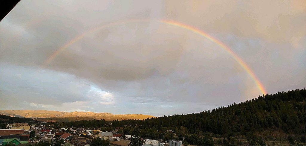 Rainbow after the storm.