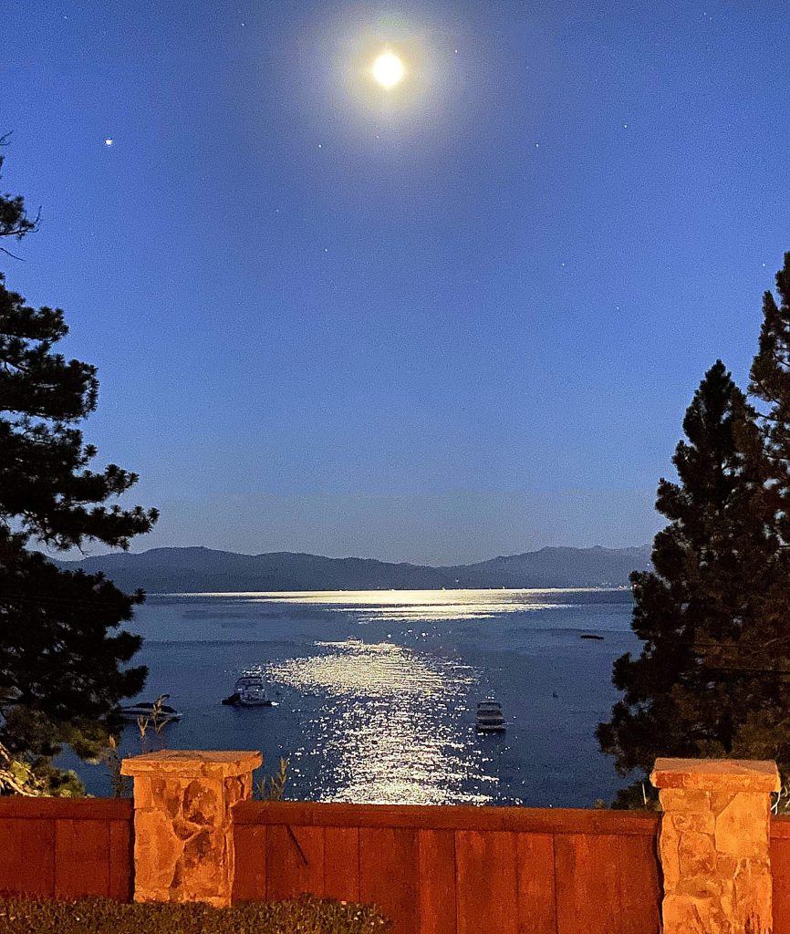 Summer Moon of Tahoe Vista.