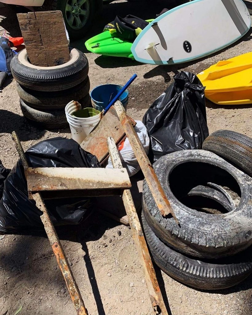 Clean Up The Lake, fronted by Colin West, began cleanups in Lake Tahoe this year, but because of COVID-19 had to postpone completing the circumnavigation of Lake Tahoe.