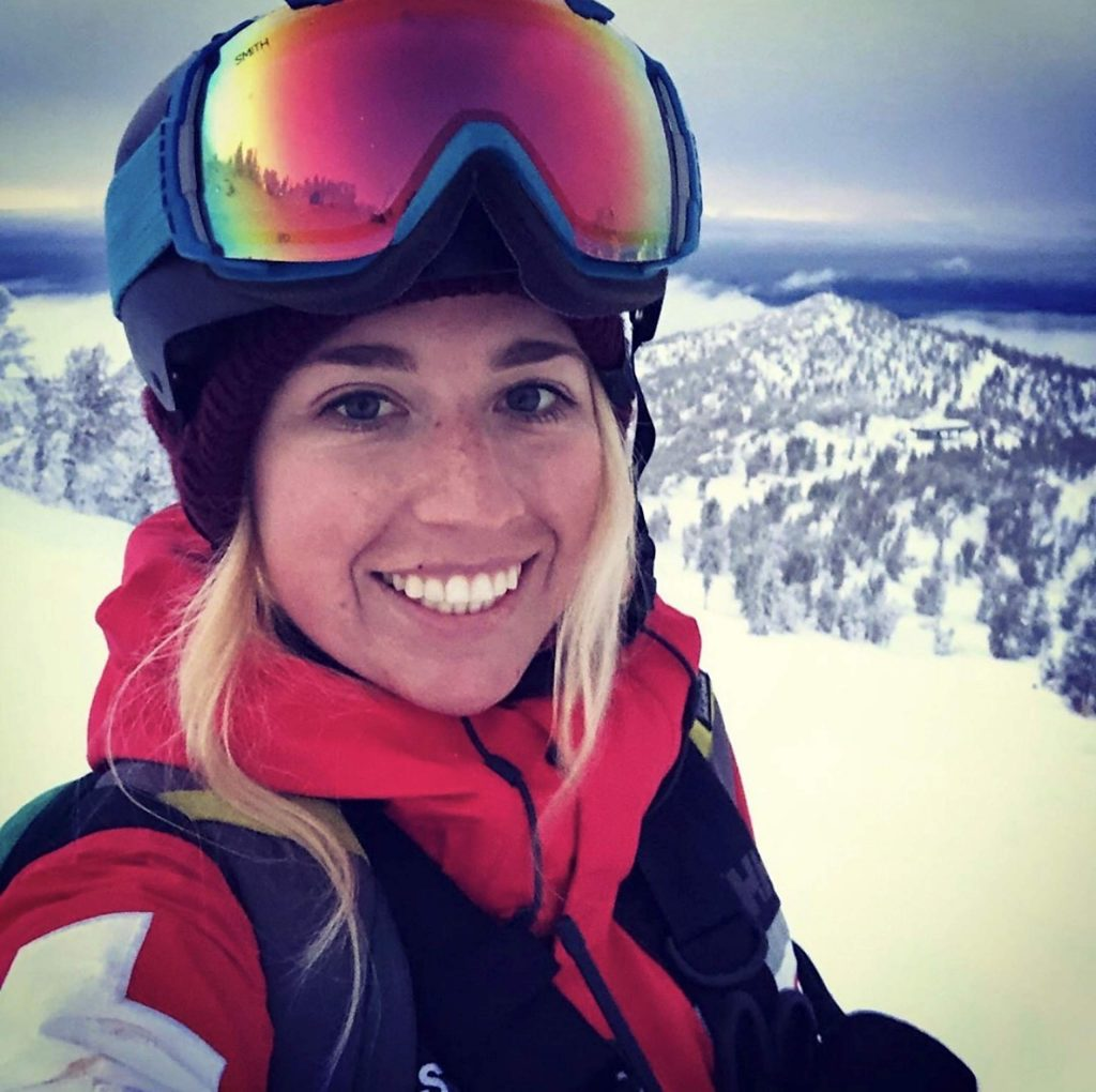 Andi Bertolina is a local ski patroller.