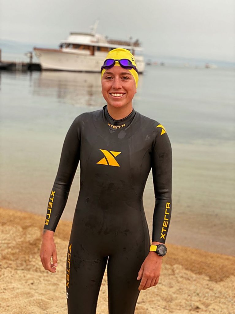 Bertolina ended up doing the swim over 11 days.
