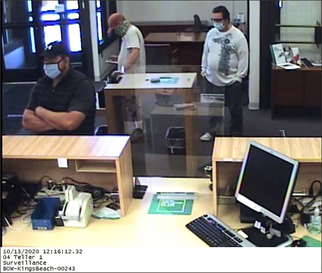 According to Placer County Detective John Riella, the suspect around 12:10 p.m. Oct. 13 entered the 200 Bear St. bank, and presented a robbery note to the teller.