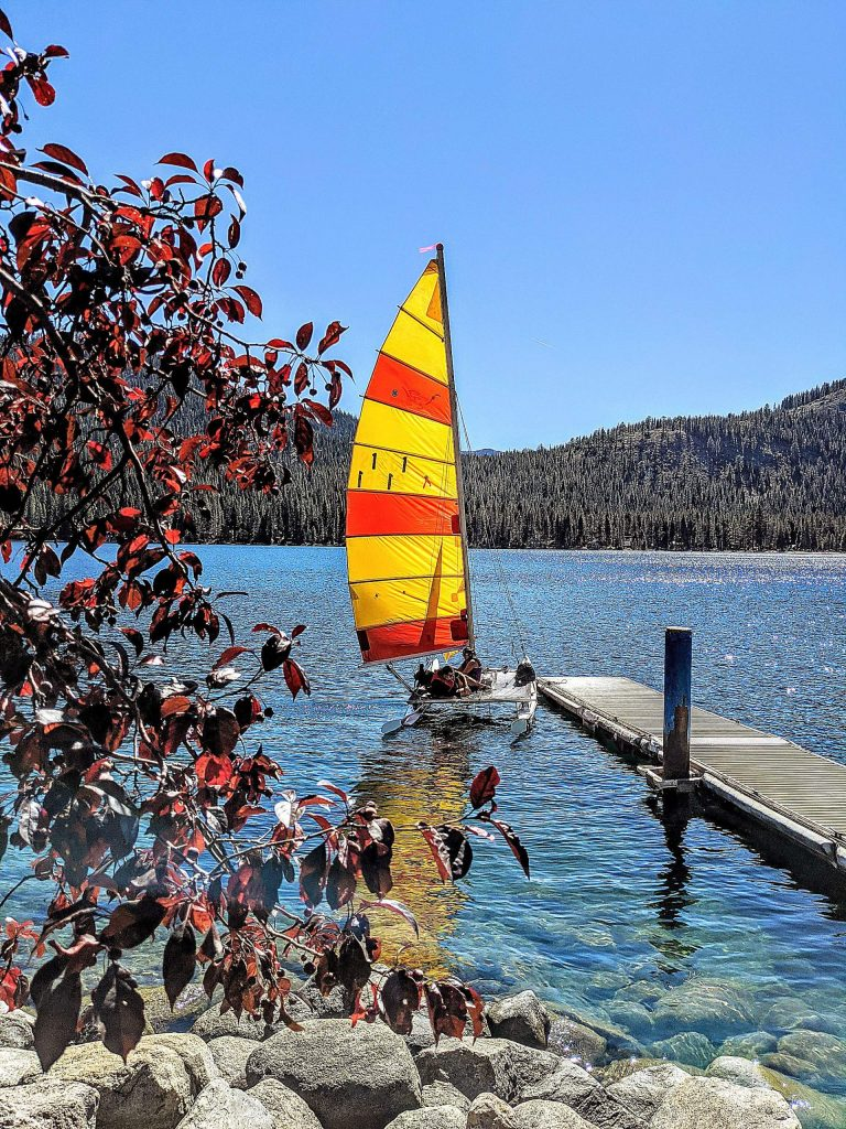 Fall colors at Donner Lake.