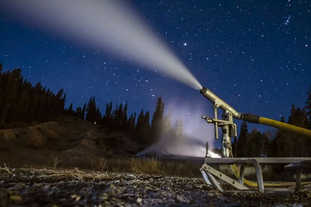 Snowmaking has begun at Northstar California Resort. Northstar's opening day will be Nov. 20. Guests are required to wear masks in lift lines, on lifts and gondolas. To maintain distance, related parties will be seated together and two singles might ride on opposite sides of a four-person lift.