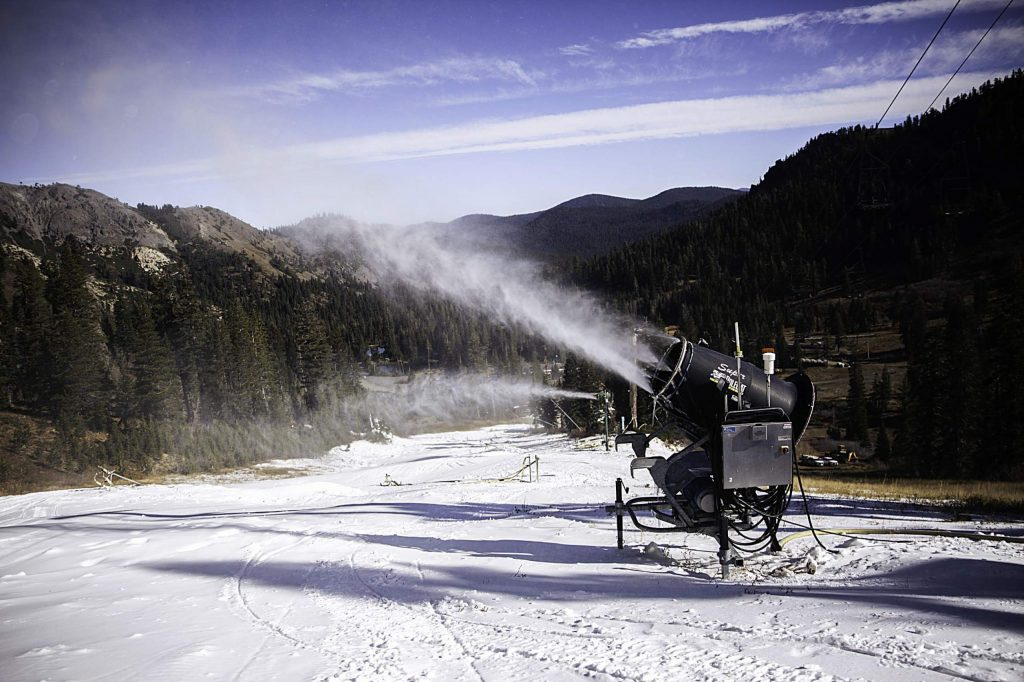 Snowmaking has started at Squaw Valley Alpine Meadows.